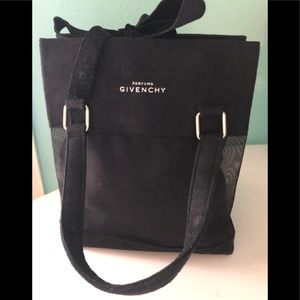Givenchy Small Black velvet parfums bag